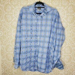 Thomas Dean Shirts - Thomas Dean Plaid Button Down Shirt XLT Tall